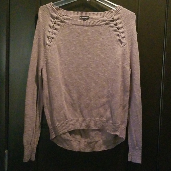 Express Sweaters - Express Lace Up Sweater